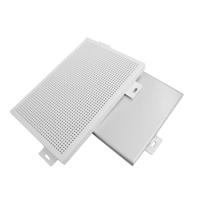白色喷粉铝单板