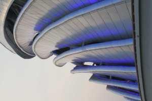 彩色螺旋造型吊顶铝单板