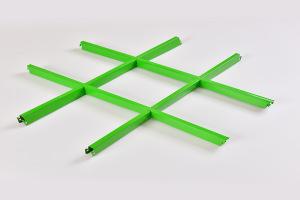 绿色铝格栅