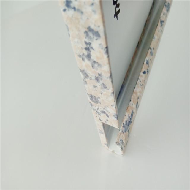 仿石纹勾搭铝单板折边细节