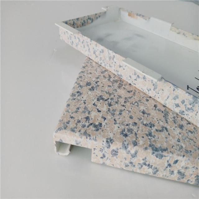 仿石纹勾搭铝单板细节