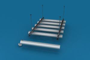 铝圆管型材、封盖和骨架图