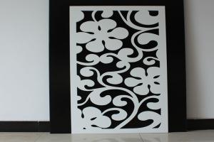 白色雕花铝单板
