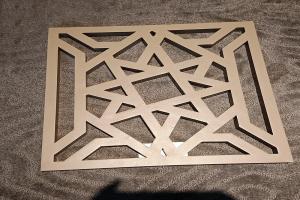 激光雕刻超尖角度铝单板