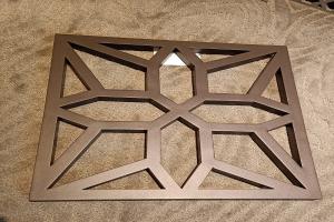 激光雕刻超尖内角铝单板