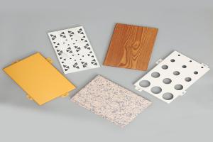各种冲孔、木纹、纯色铝单板