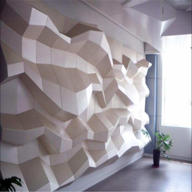 凹凸造型背景墙铝单板