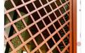 木纹色铝合金屏风