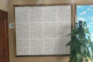 不规则冲孔铝扣板背景墙