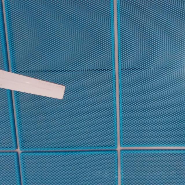 蓝色铝拉网板吊顶
