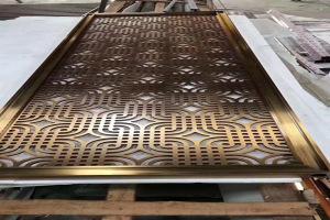 铝合金电镀古铜屏风