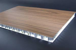 木纹色铝合金蜂窝板