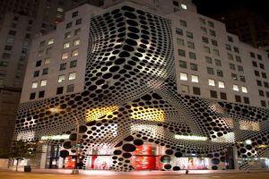 铝单板冲孔造型墙