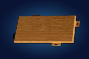 木纹色留缝铝单板
