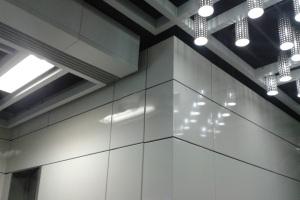 高光烤瓷铝单板墙面
