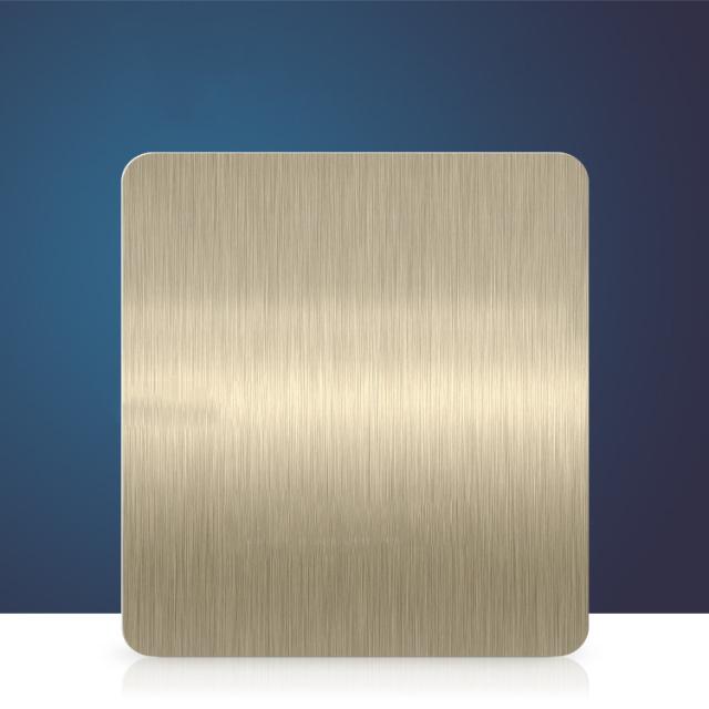 浅金色短拉丝氧化铝板