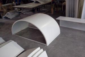 圆形铝包柱板和塑形拉筋