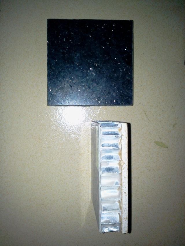 石材复合铝蜂窝板正面