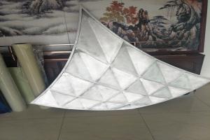双曲鱼鳞形铝单板