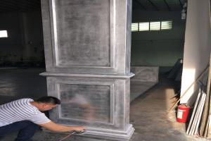 凹凸形铝单板造型碑