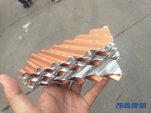 多层堆叠铝瓦楞芯
