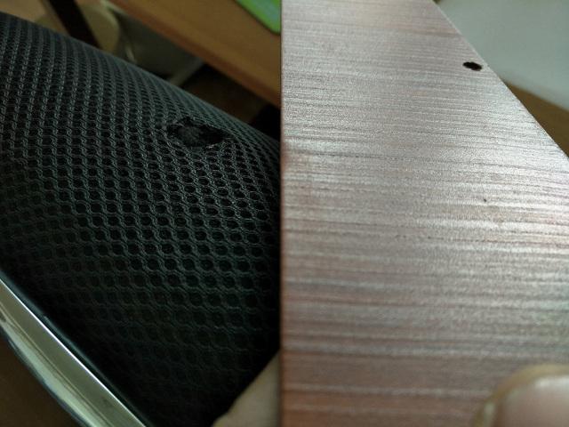 凹凸3D手感木纹铝单板近照