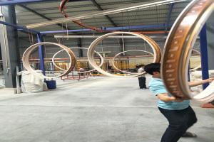 木纹铝单板造型大圆环