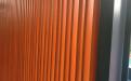 木纹色立面铝格栅葡萄架
