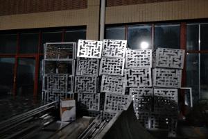 中式雕花铝空调罩