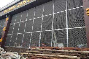 户外铝拉网板幕墙
