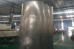 冲孔拼图圆形铝单板包柱