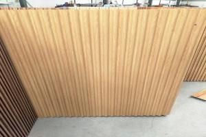 木纹色圆弧长城板铝型材