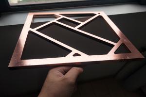 15mm厚电镀古铜色铝窗花
