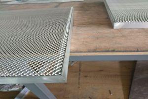 密拼内嵌式铝拉网板