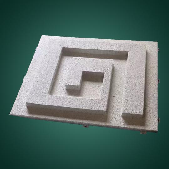 外墙凹凸形石纹铝单板