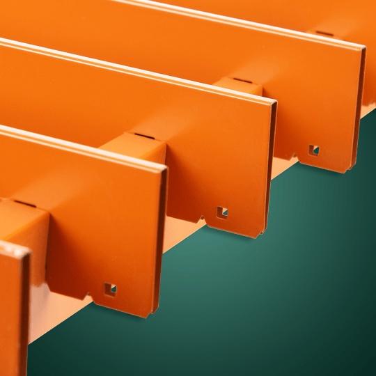 橙黄色60*20铝格栅