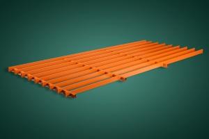 长方形铝格栅