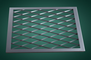 窄边棱形孔铝拉网板