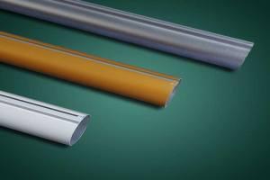 铝合金圆管凹槽和凸槽