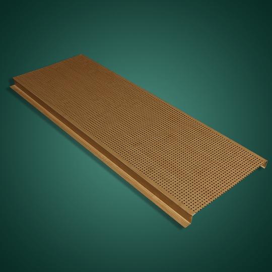 木纹色G形冲孔有缝铝条扣