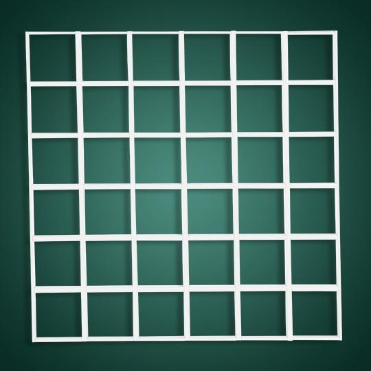 方格子形铝格栅