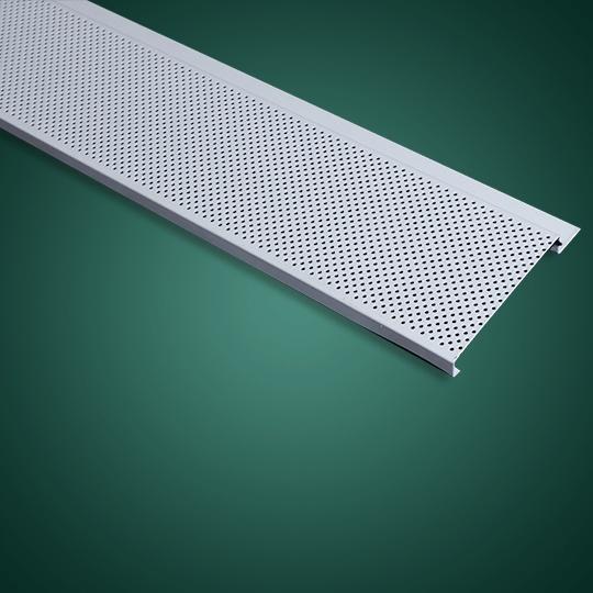 100面G形有缝冲孔铝条扣