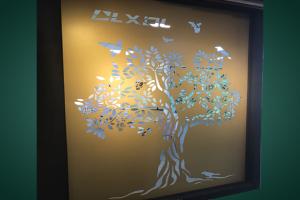 大树雕花铝单板