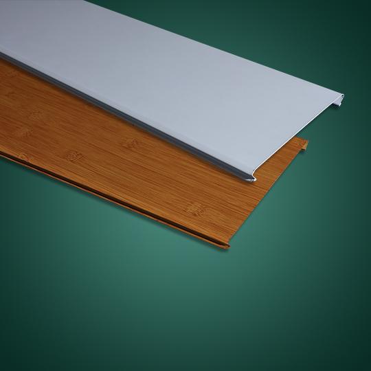 木纹色和白色C形铝条扣
