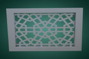 厚板雕刻铝窗花