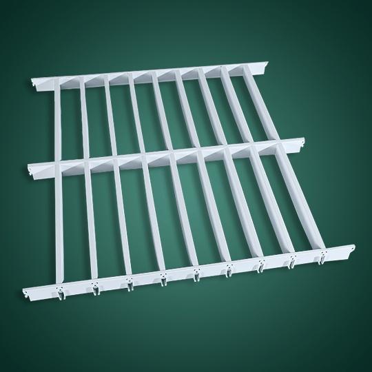 长方形孔铝格栅