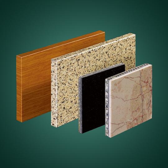各式石材和木纹复合铝蜂窝板