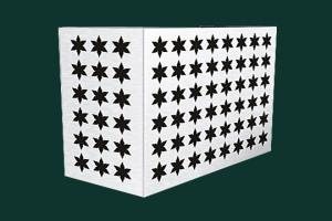 六芒星冲孔铝空调罩