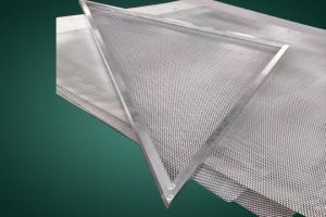 三角形冲孔拉网铝单板