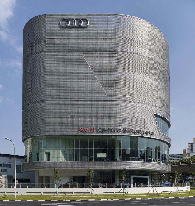 奥迪4S店外墙冲孔长城铝单板